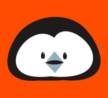 cute kawaii penguin face Kids Tee
