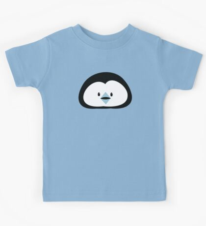 cute kawaii penguin face Kids Tee
