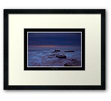 Dusk Tide Framed Print