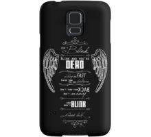 Don't blink. - White Samsung Galaxy Case/Skin
