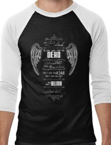 Don't blink. - White Men's Baseball ¾ T-Shirt