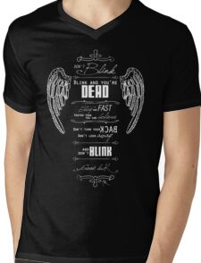 Don't blink. - White Mens V-Neck T-Shirt