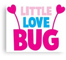 Little love bug with cute little antennae matching big love bug Canvas Print