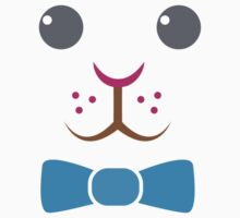 Bunny rabbit face with bow tie Kids Clothes