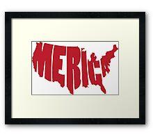 'Merica Design (America) Framed Print