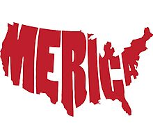 'Merica Design (America) Photographic Print