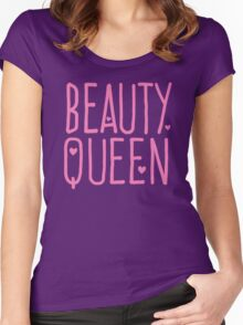Beauty Queen with cute little hearts Women's Fitted Scoop T-Shirt