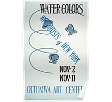 WPA United States Government Work Project Administration Poster 0152 Water Colors Ottumwa Art Center Poster