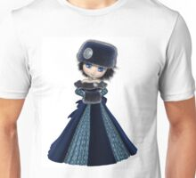 Toon Winter Princess in Blue Unisex T-Shirt