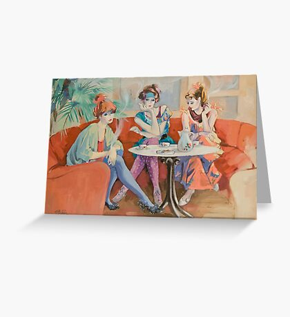 Cafe Chat Greeting Card