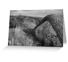 Old Thatch and Summer Grasslands - Killbegs, County Donegal. Greeting Card