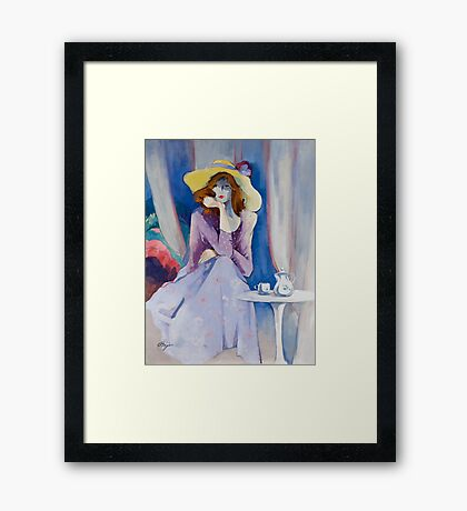 Yellow Hat Framed Print