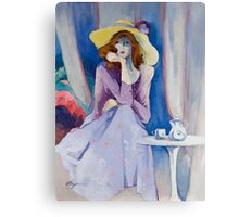 Yellow Hat Canvas Print