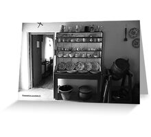 Quiet Rooms - Cottage Interior County Donegal. Greeting Card