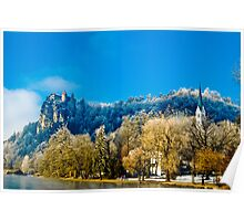 Castle and Church in Bled Poster