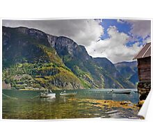 Clear water of fjords Poster