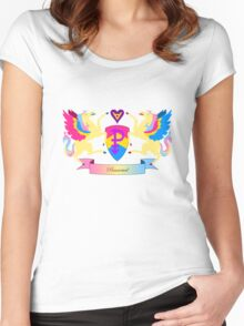 Pansexual Crest Women's Fitted Scoop T-Shirt