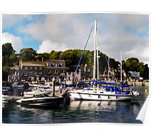 Padstow Harbor, Cornwall, UK Poster