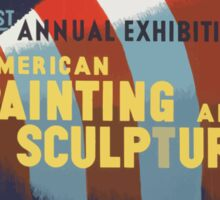 WPA United States Government Work Project Administration Poster 0443 51st Annual Exhibition American Painting and Sculpture Sticker