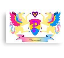 Panromantic Crest Canvas Print
