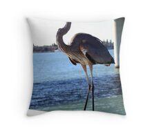 Heron - Lido key Throw Pillow