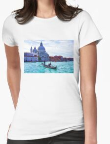 Impressions of Venice - Traghetto Crossing the Grand Canal Womens Fitted T-Shirt