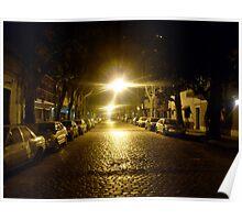 Street at night, street at light Poster