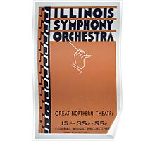 WPA United States Government Work Project Administration Poster 0132 Illinois Symphony Orchestra Great Northern Theatre Poster