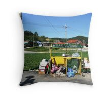road side recycling  Throw Pillow