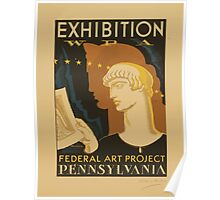 WPA United States Government Work Project Administration Poster 0973 Exhibition Federal Art Project Pennsylvania Poster