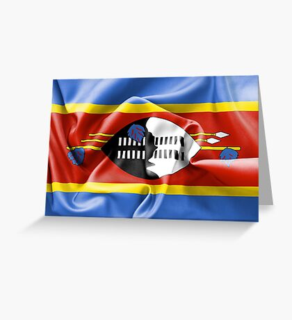 Swaziland Flag Greeting Card