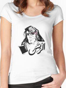 Arabic Calligraphy - John Silver الرّيس Women's Fitted Scoop T-Shirt