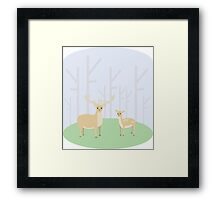 Stag and Doe Framed Print