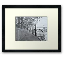 Walkway on the Yarra Framed Print