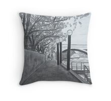 Walkway on the Yarra Throw Pillow