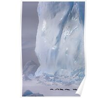 Emperor Penguins & Iceberg Poster