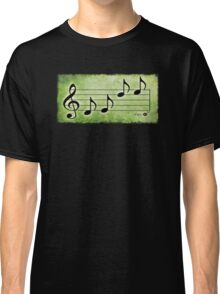 KEYS - Words in Music Green Background - V-Note Creations Classic T-Shirt