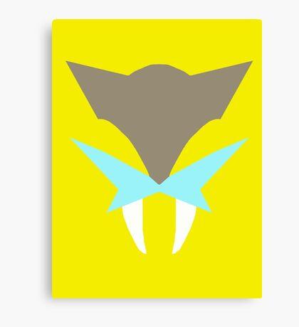 Pokemon Faces - Raikou Canvas Print