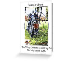 Bikes & Guns Greeting Card