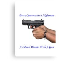 Liberal Woman With A Gun Canvas Print