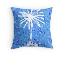 Palmetto Frost Throw Pillow