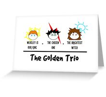 One, two, TRIO. Greeting Card