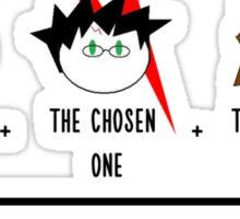 One, two, TRIO. Sticker