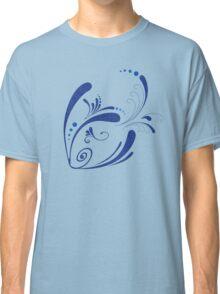 Cool Fish Grunge Twirls Classic T-Shirt