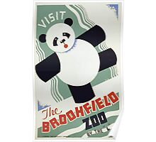 WPA United States Government Work Project Administration Poster 0259 Visit Brookfield Zoo Panda Poster