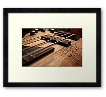 Bass Guitar Framed Print