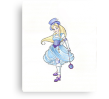 Steampunk Alice Canvas Print