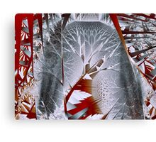 Trees I: Silvery Forest Canvas Print