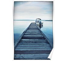 """""""Waiting at the jetty"""" St Georges Basin, South Coast NSW Poster"""