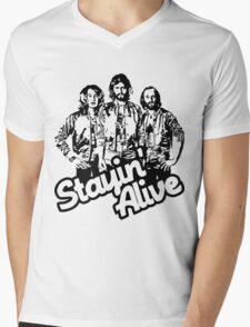 Stayin' Alive Mens V-Neck T-Shirt
